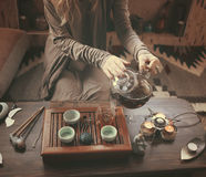 Przygotowanie dla herbacianej ceremonii Zdjęcia Royalty Free