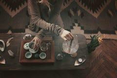 Przygotowanie dla herbacianej ceremonii Zdjęcie Royalty Free
