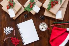 Przygotowanie dla nowy rok wakacji pojęcia Zdjęcia Royalty Free