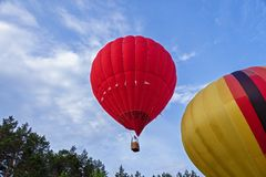 Przygotowanie dla wodowanie balon Obrazy Royalty Free