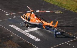 Przygotowanie helikopter dla lota Zdjęcia Stock