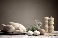 przygotowanie kurczaka Zdjęcia Stock