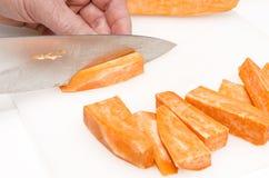 Przygotowanie słodcy potatoe układy scaleni 4 Zdjęcie Royalty Free