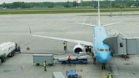 Przygotowanie samolot dla lota zdjęcie wideo