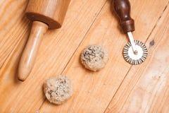 Przygotowanie scones Czeskie domowej roboty słodkie babeczki Fotografia Stock