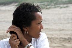 przygotowanie seaweather moje włosy Fotografia Stock