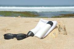 Przygotowanie sunbathing na plaży Zdjęcie Stock