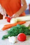 przygotowanie warzywa Zdjęcie Royalty Free