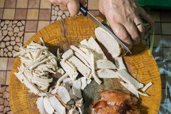 Przygotowanie Wietnamska karmowa kanapka Zdjęcia Royalty Free