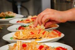 Przygotowany homar na talerzu zdjęcie royalty free