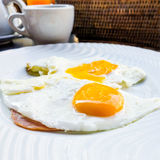 Przygotowany jajko obraz royalty free