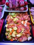 Przygotowany jedzenie w rolnika rynku zdjęcie stock