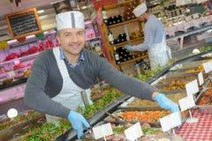 Przygotowany jedzenie w rynku obraz stock
