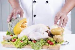 Przygotowany kulinarny surowy kurczak zdjęcie royalty free