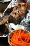 Przygotowany mięso w piekarniku obrazy stock