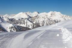 Przygotowany narciarski skłon Zdjęcie Royalty Free