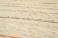 Przygotowany piasek dla sportów zdjęcia royalty free