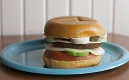 Przygotowany Veggie hamburger zdjęcia stock