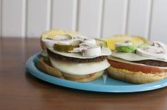 Przygotowany Veggie hamburger fotografia stock