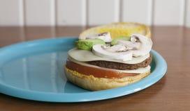 Przygotowany Veggie hamburger obraz royalty free