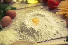 Przygotowywać domowej roboty tradycyjnego Włoskiego jedzenie Fotografia Stock
