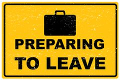 Przygotowywać opuszczać znaka ilustracji