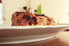 Przygotowywać piec meatloaf obrazy royalty free