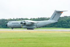 Przygotowywać dla start wojskowego transportu samolotu Aerobus A400M atlanta Obraz Stock