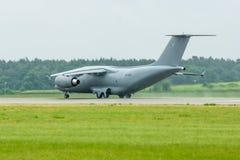 Przygotowywać dla start wojskowego transportu samolotu Antonov An-178 Zdjęcia Stock
