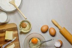 Przygotowywa dla wypiekowych ciastek fotografia stock