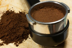 Przygotowywa kawę espresso Obraz Stock