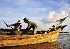 Przygotowywa sieć rybacką Obraz Royalty Free