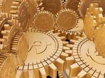 przygotowywa złotego pieniądze Fotografia Royalty Free