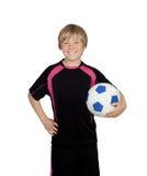 Przygotowywający dla bawić się piłkę nożną Zdjęcie Stock