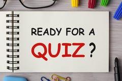 Przygotowywający Dla quizu obraz royalty free