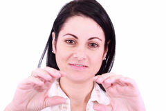 przygotowywający kobieta ręka piękny chwyt Zdjęcie Royalty Free