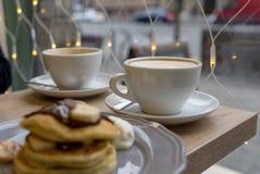 Przygotowywający pić coffe latte Obraz Stock