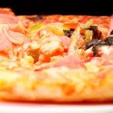 przygotowywający pizza talerz zdjęcie stock