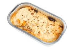 przygotowywający posiłku moussaka Fotografia Stock