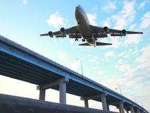 przygotowywający samolotowy lądowanie Zdjęcie Stock
