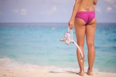 przygotowywający snorkel Zdjęcia Royalty Free