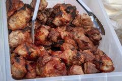 Przygotowywający sprzedawać shish kebab zdjęcie royalty free