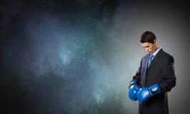 Przygotowywający walczyć dla sukcesu Zdjęcie Stock