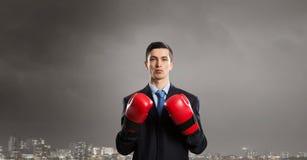 Przygotowywający walczyć dla sukcesu Obrazy Stock