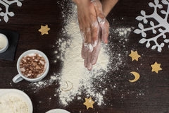 Przygotowywający dla ciasta Fotografia Royalty Free