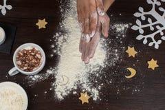 Przygotowywający dla ciasta Zdjęcia Stock