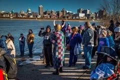Przygotowywający dla Harrisburg skok do wody Fotografia Royalty Free
