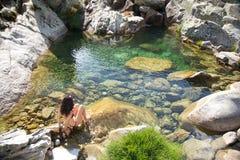 przygotowywający zielony naturalny basen Obraz Stock