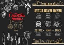 Przyjęcia gwiazdkowego zaproszenie, karmowa menu restauracja ilustracji