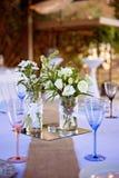 Przyjęcie, Bridal, konwencja Stołowy wystrój obrazy royalty free